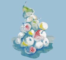 Acrylic fruits in a heap. by Kateryna Naumova