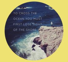 Lose Sight Of the Shore Type Typography Inspirational Beach Hipster Print Kids Clothes