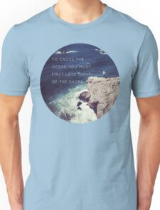 Lose Sight Of the Shore Type Typography Inspirational Beach Hipster Print Unisex T-Shirt