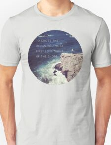 Lose Sight Of the Shore Type Typography Inspirational Beach Hipster Print T-Shirt