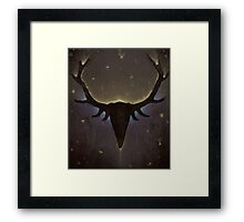 Sleeping Stag Framed Print