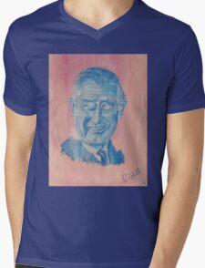 Charming Prince Charles Mens V-Neck T-Shirt