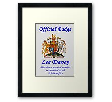Representing the British BS Framed Print