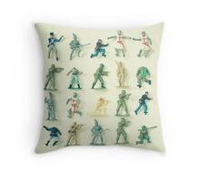 Broken Army Throw Pillow