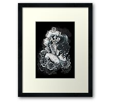 in her reflection Framed Print