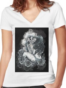 in her reflection Women's Fitted V-Neck T-Shirt