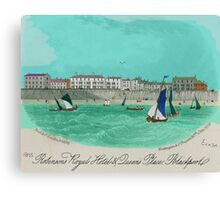 Robinsons Royal Hotel, Blackpool 1855 Canvas Print
