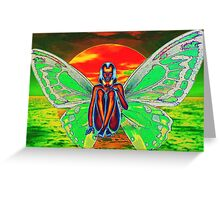 BUTTERFLY SUNSET Greeting Card