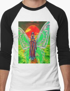 BUTTERFLY SUNSET Men's Baseball ¾ T-Shirt