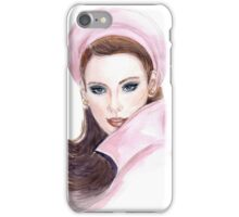 Portrait of beautiful woman  iPhone Case/Skin