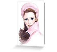 Portrait of beautiful woman  Greeting Card