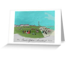 The Beach at Lytham. Greeting Card