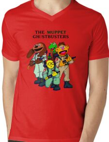 Muppet Ghostbusters Mens V-Neck T-Shirt