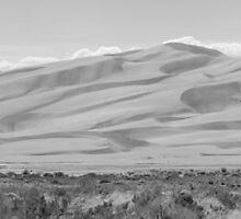 Great Sand Dunes National Park Panorama #BW10-001 by Christopher Heil