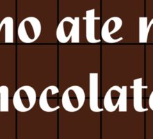 Who Ate My Chocolate iPhone Case - Galaxy Phone Cover Sticker