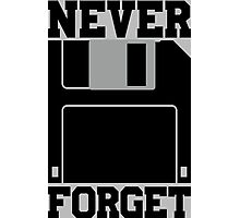 Floppy Disk - Never Forget Photographic Print