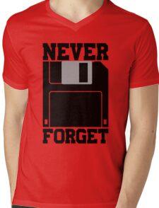 Floppy Disk - Never Forget Mens V-Neck T-Shirt