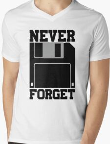 Floppy Disk - Never Forget Mens V-Neck T-Shirt