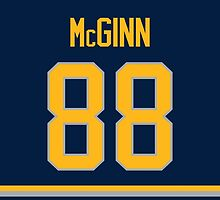 Buffalo Sabres Jamie McGinn Jersey Back Phone Case by Russ Jericho
