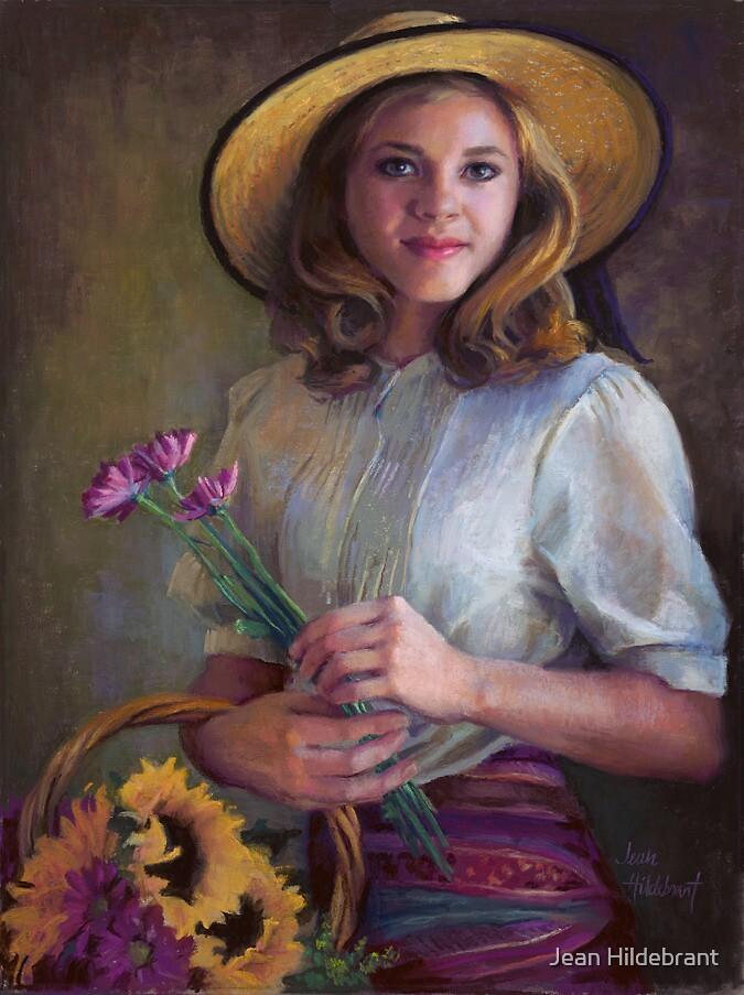 Flower Peddler by Jean Hildebrant