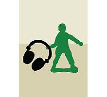 Soldier - Headphones Photographic Print