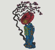 Umbrella Geisha Color by Octavio Velazquez