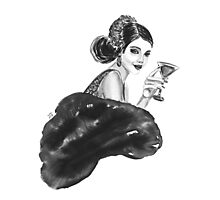 woman with cocktail  Photographic Print