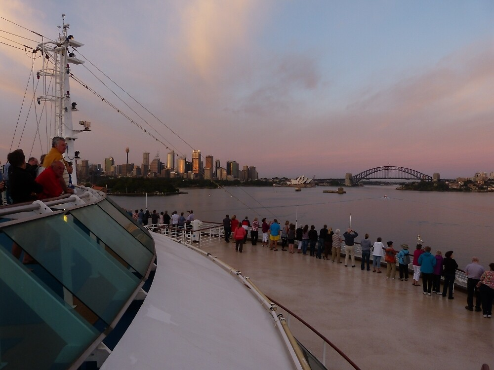 Cruising into Sydney at sunrise by PhotosByG