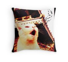 Buffy the Cat Hits The High Notes Throw Pillow