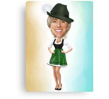 Personalized caricature 100% hand drawn Canvas Print