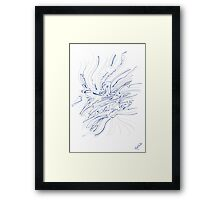 0310 - Concentration in Blue and Red Framed Print