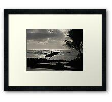 Silver surfer Framed Print
