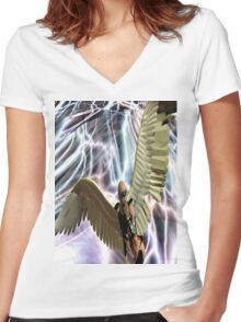 THE ANGEL HAS A SECRET Women's Fitted V-Neck T-Shirt