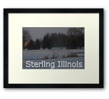 Sterling, Illinois Framed Print
