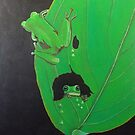 Frogs on Leaf by jansimpressions
