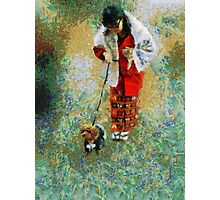 Japanese woman with dog Photographic Print