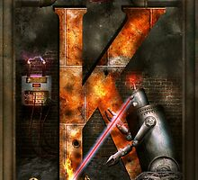 Steampunk - Alphabet - K is for Killer Robots by Mike  Savad