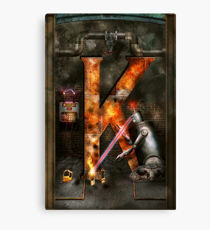 Steampunk - Alphabet - K is for Killer Robots Canvas Print