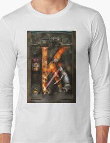 Steampunk - Alphabet - K is for Killer Robots Long Sleeve T-Shirt