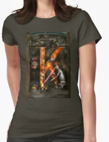 Steampunk - Alphabet - K is for Killer Robots Womens Fitted T-Shirt