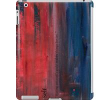 Paint faded text red iPad Case/Skin