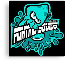Fighting Squids Canvas Print