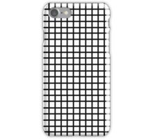Grid - black and white minimal modern grid pattern print gifts for urban iPhone Case/Skin