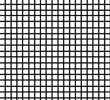 Grid - black and white minimal modern grid pattern print gifts for urban by charlottewinter