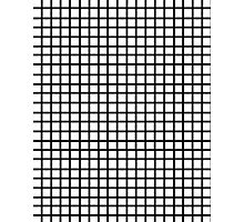 Grid - black and white minimal modern grid pattern print gifts for urban Photographic Print