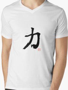 Kanji - Power Mens V-Neck T-Shirt