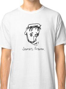 A portrait of James Franco Classic T-Shirt