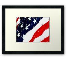 untitled flag Framed Print