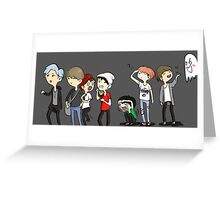 BTS haunted house doodle Greeting Card