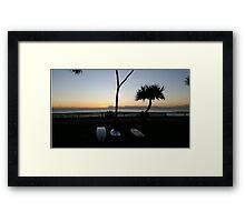 Surf the Dawn Framed Print
